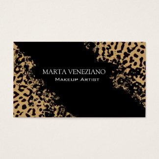 Makeup Artist III Professional Cosmetology Leopard Business Card