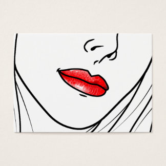 Makeup Artist Illustration Business Card