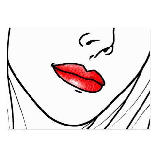 Makeup Artist Illustration Large Business Card