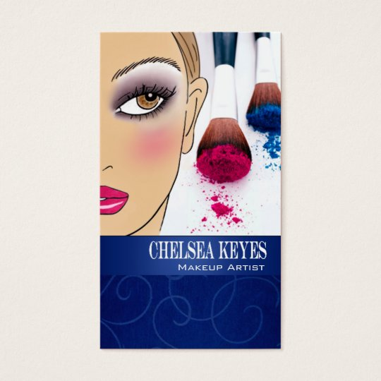 Makeup Artist IV-b Cosmetic Stylist Illustration Business Card