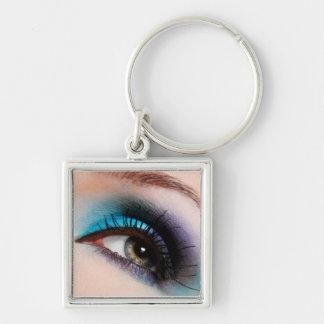 Makeup artist keychain-aqua keychain
