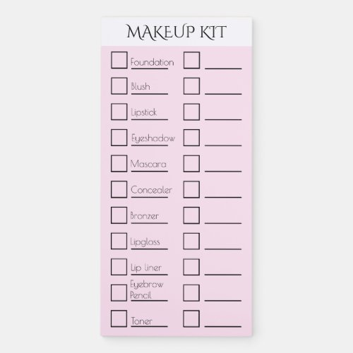 Makeup artist kit checklist  CUSTOMIZE 2 Magnetic Notepad
