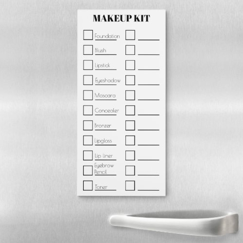 Makeup artist kit checklist  CUSTOMIZE Magnetic Notepad
