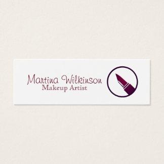 Makeup artist lipstic style cover mini business card