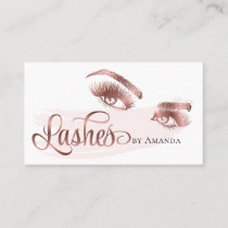Makeup Artist Long Lashes Eyebrow Eyes Lash Brows Business Card