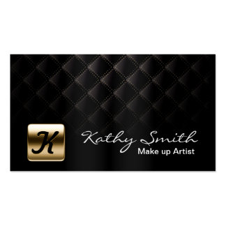 Makeup Artist Luxury Black & Gold Elegant Double-Sided Standard Business Cards (Pack Of 100)