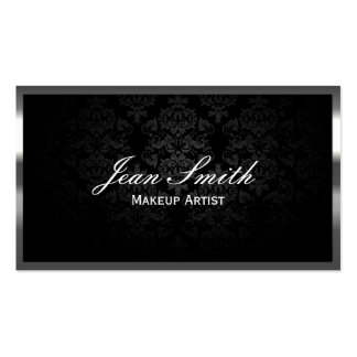 Makeup Artist Luxury Metal Border Double-Sided Standard Business Cards (Pack Of 100)