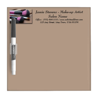 Makeup Artist Makeup Brushes Dry Erase Board