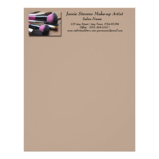 Makeup Artist Makeup Brushes Letterhead
