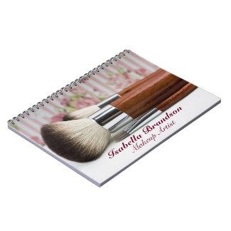 Makeup Artist Makeup Brushes Notebook