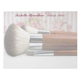 Makeup Artist Makeup Brushes Notepad