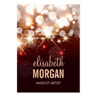 Makeup Artist - Modern Glitter Sparkle Business Cards