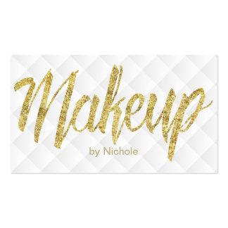Makeup Artist Modern Gold Script Luxury Business Card