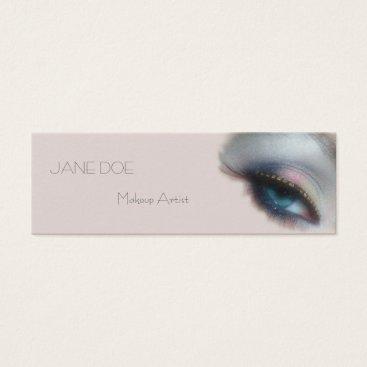 USA Themed Makeup Artist Modern Salon Blue Eye Mini Business Card