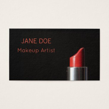 USA Themed Makeup Artist Modern Salon Stylist Business Card