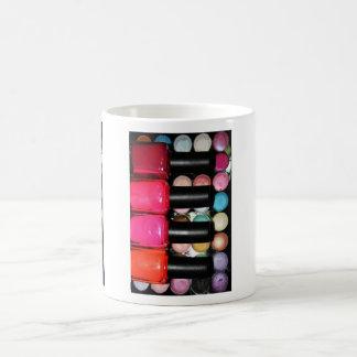 Makeup Artist Nail Polishe Eye Shadow Palette Coffee Mug