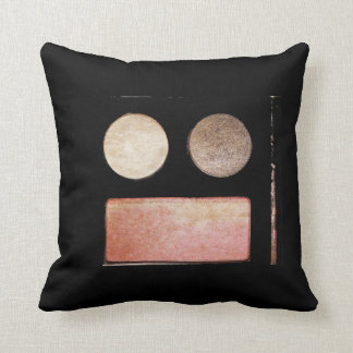 Makeup Artist Palette-Face Throw Pillow
