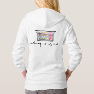 "Makeup Artist Palette - ""Makeup Is My Art"" Quote Hoodie"