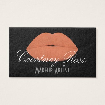 Professional Business Makeup Artist/Peach Lips - Thick Business Cards