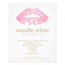 Makeup Artist Pink and Gold Lips Beauty Salon Flyer