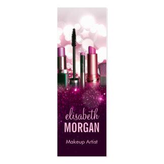 Makeup Artist - Pink Beauty Glitter Tiny Compact Mini Business Card