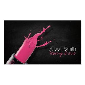 Makeup Artist/Pink Lipstick Business Cards