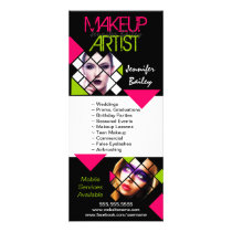 Makeup Artist Portfolio Rack Card