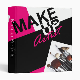 Makeup Artist Pro Portfolio Appointment Book 3 Ring Binder