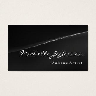 Makeup Artist Professional Grey Business Card