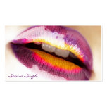 Makeup Artist Purple Lipgloss Double-Sided Standard Business Cards (Pack Of 100)