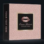 """Makeup Artist Rose Gold Glitter Lips Modern Salon 3 Ring Binder<br><div class=""""desc"""">Makeup Artist Rose Gold Glitter Lips Modern Salon Binder.</div>"""