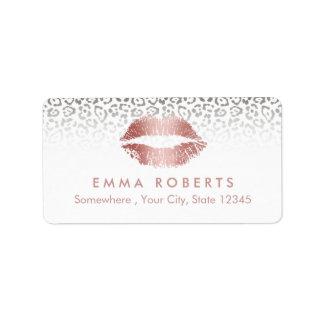 Makeup Artist Rose Rose Gold Lips Salon Leopard Label