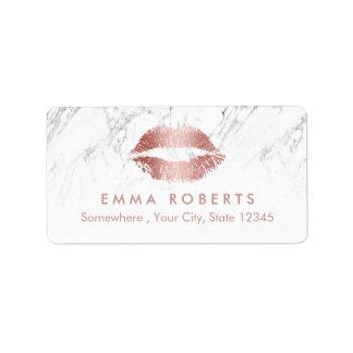 Makeup Artist Rose Rose Gold Lips Salon Marble Label