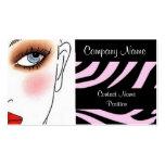 Makeup artist salon beauty business card