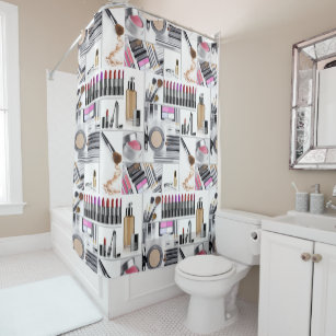 Lipstick Makeup Artist Shower Curtains Zazzle