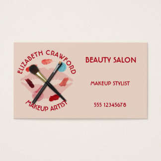 Makeup Artist Stylist Beauty Salon With Your Name Business Card