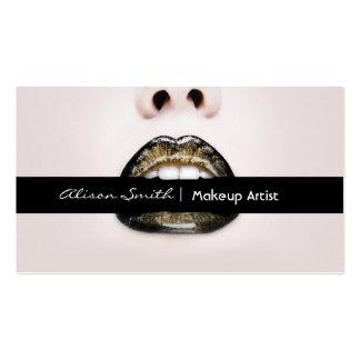 Makeup artist plantilla de tarjeta de visita
