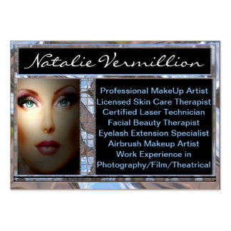 Makeup Artist Vermillion Professional Business Card Templates