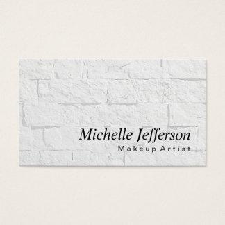 Makeup Artist Wall Brick Pattern Business Card