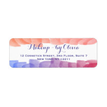 Makeup Artist Watercolor Paint Strokes Label