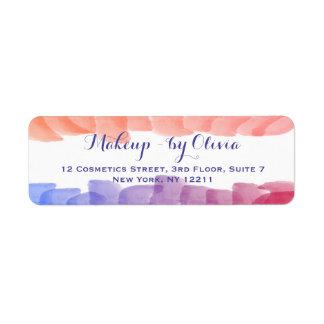 Makeup Artist Watercolor Paint Strokes Label