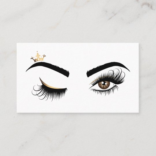 df83f30aa6e Makeup artist Wink Eye Beauty Salon Lash Extension Business Card |  Zazzle.com