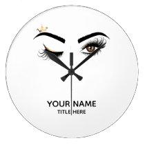 Makeup artist Wink Eye Beauty Salon Lash Extension Large Clock