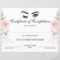 Makeup artist Wink Eye  Certificate of Completion