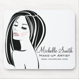 Makeup artist Woman Face long eyelashes branding Mouse Pad
