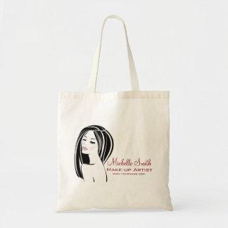 Makeup artist Woman Face long eyelashes branding Tote Bag