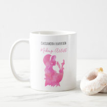 Makeup Artist Woman Silhouette Watercolor Beauty Coffee Mug