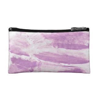 Makeup Bag with Lavender Abstract Design