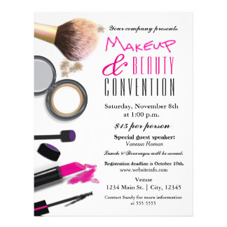Makeup & Beauty Chic Glam Event Flyer Poster