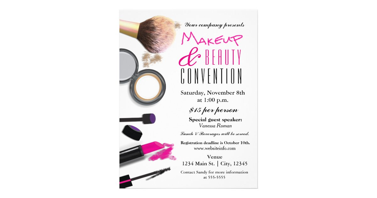 Makeup amp Beauty Chic Glam Event Flyer Poster Zazzle